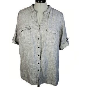 JM Collection gray top